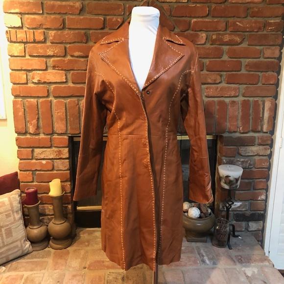Aldo Vintage Retro Boho Soft Leather Duster Jacket